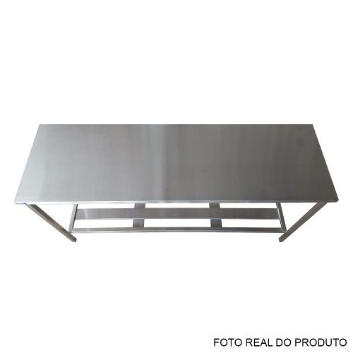 Mesa Aço Inox Profissional 140x70x90 cm Nortinox