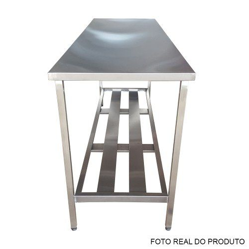 Mesa Aço Inox Profissional 170x70x90 cm Nortinox
