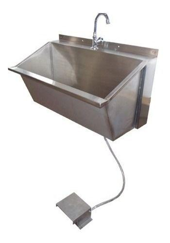 Pia de Assepsia Inox Lavatório para Mãos 55x60 cm Nortinox