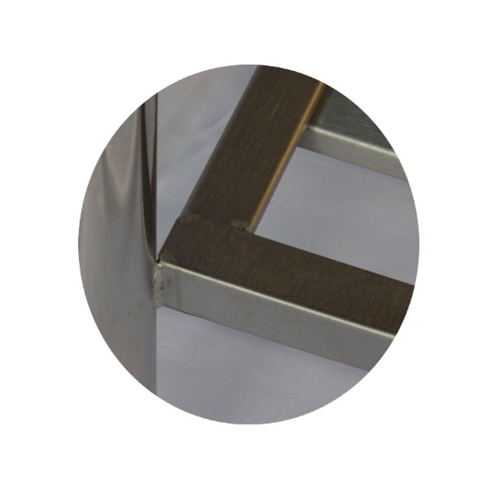 Pia Aço Inox Industrial 180x60x90 cm Cuba Direita Nortinox