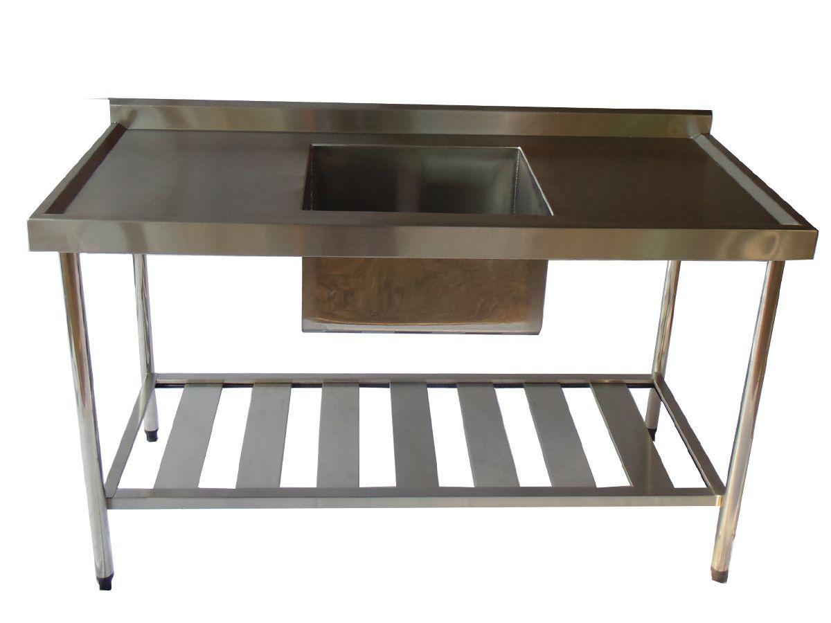 Pia de Aço Inox Industrial Nortinox 140x60x90 cm