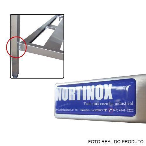 Pia de Aço Inox Industrial Nortinox 170x60x90 cm