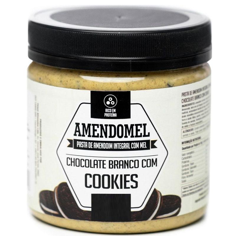 AMENDOMEL CHOCOLATE BRANCO COM COOKIES - 500G