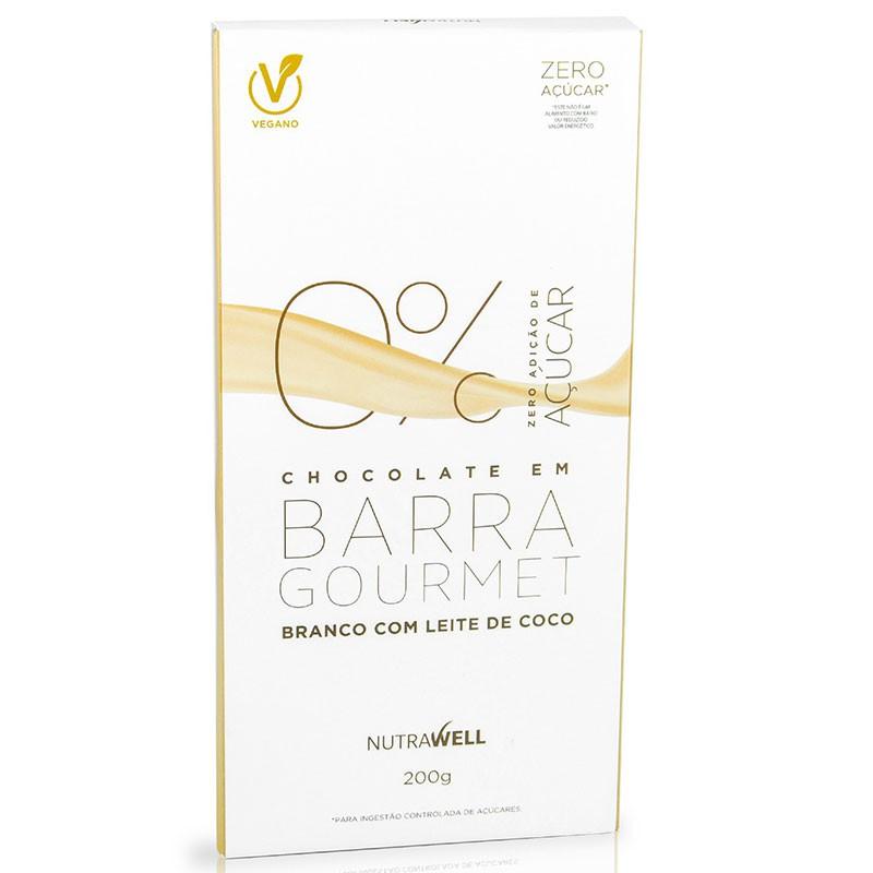 BARRA DE CHOCOLATE GOURMET BRANCO - 200G