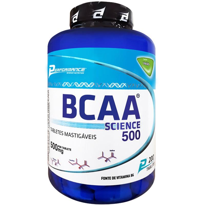 BCAA SCIENCE  500 - 200 TABLETES MASTIGÁVEIS