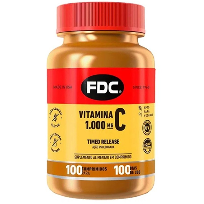 C 1000MG TIME RELEASE - 100 COMPRIMIDOS