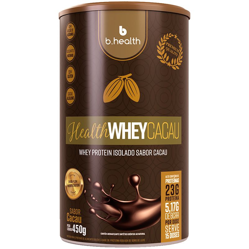 HEALTH WHEY  CACAU - 450G