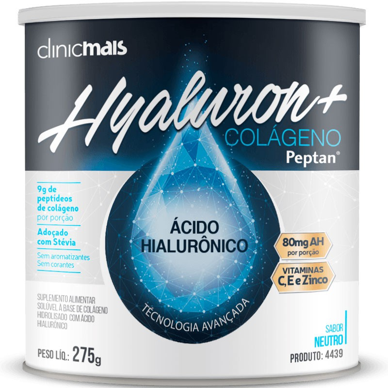 HYALURON+ ( ÁCIDO HIALURÔNICO + COLÁGENO PEPTAN ) - 275G
