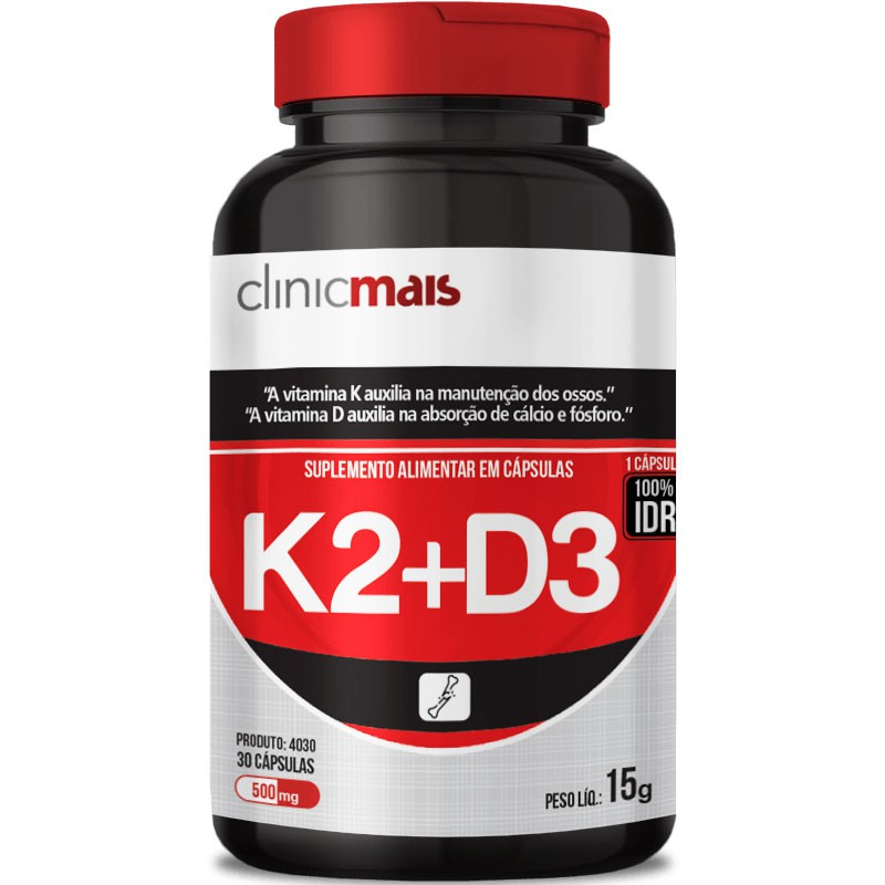 K2 + D3 - 30 CÁPSULAS