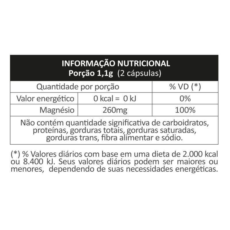 MAGNÉSIO QUELATO - 120 CÁPSULAS