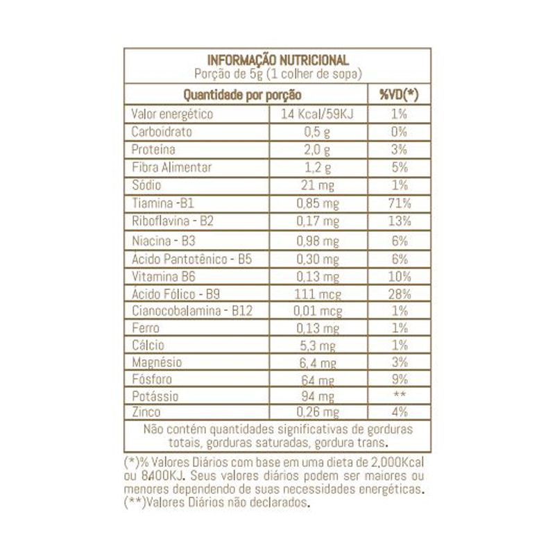 NUTRITIONAL YEAST VEGGIE - 85G