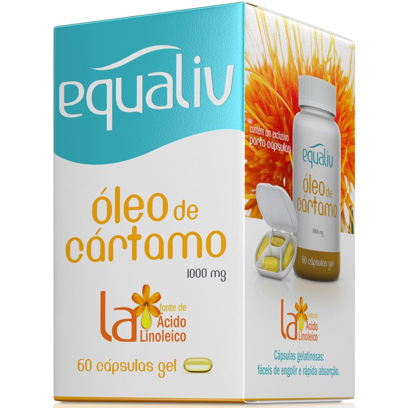 ÓLEO DE CÁRTAMO - 60 CÁPSULAS