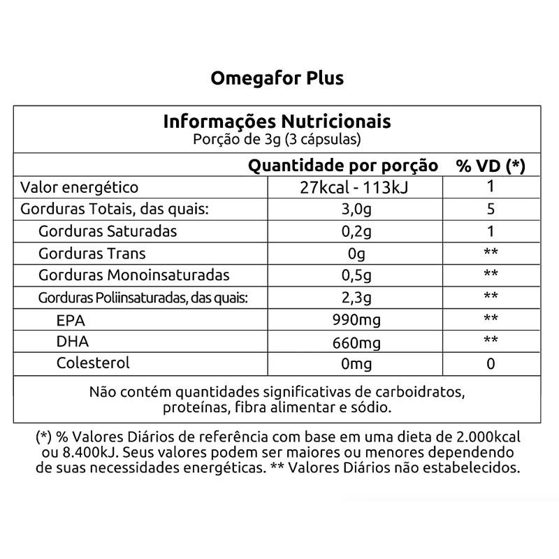 OMEGAFOR PLUS - 120 CÁPSULAS
