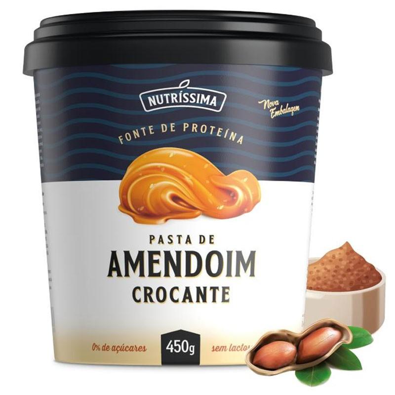 PASTA DE AMENDOIM INTEGRAL CROCANTE - 450G