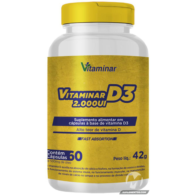 VITAMINA D3 - 60 CÁPSULAS