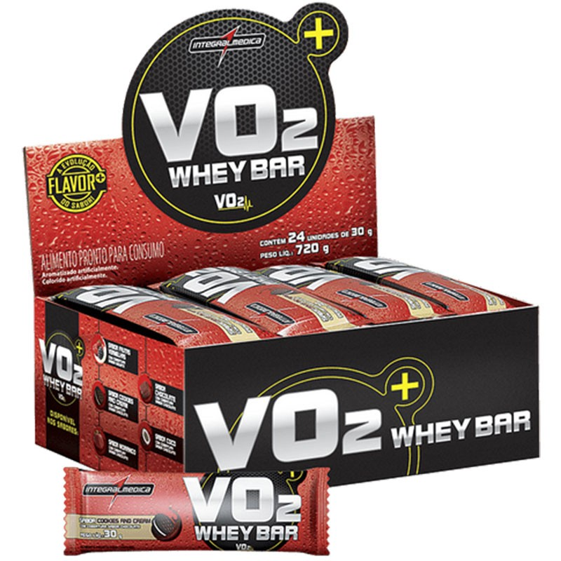 VO2 WHEY BAR COOKIES AND CREAM - CX 24 UNIDS