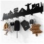 Chaveiros do Viajante - Ícones de Viagem - Globo, Avião, Setas e Mala de Viagem (Kit c/4un)