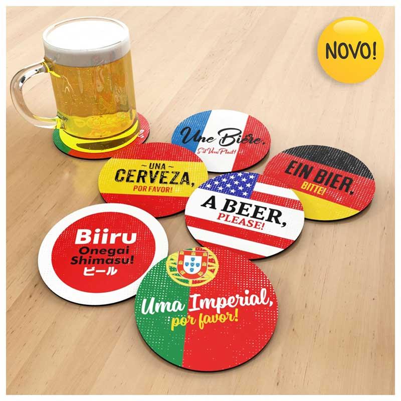 Apoio para Copo Imantado - Coleção Cervejeiro Internacional (Kit c/ 6un)
