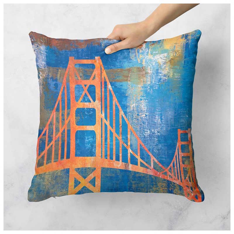 Capa de Almofada - Golden Gate - São Francisco - EUA (43x43cm)