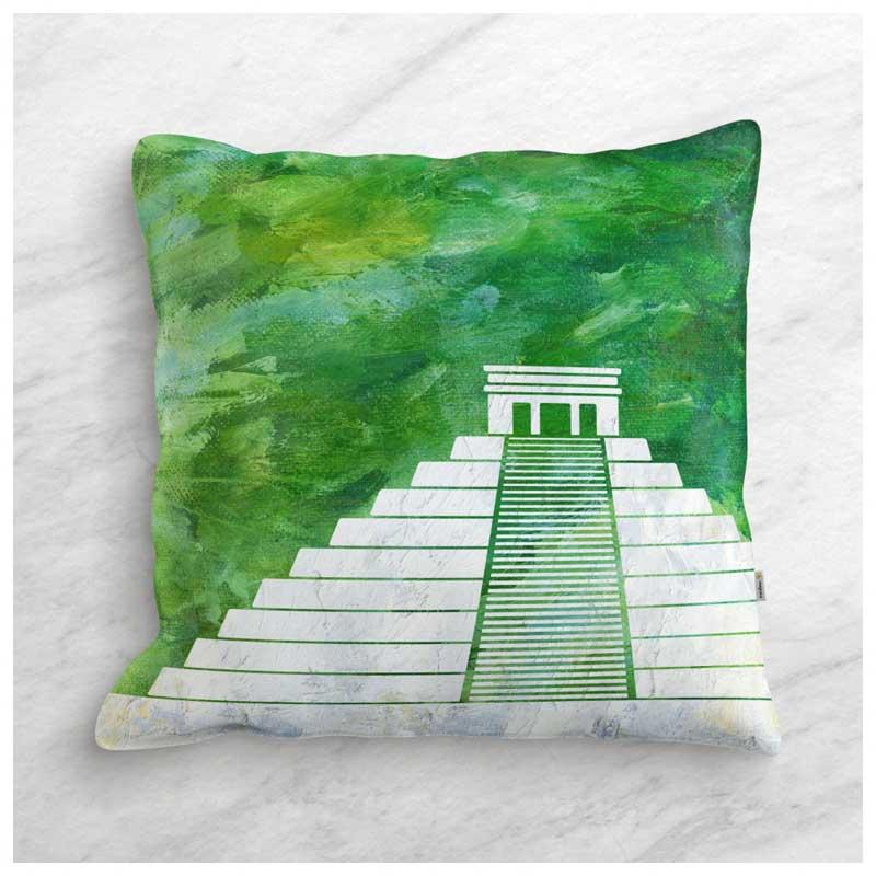 Capa de Almofada - Pirâmide - Chichén Itzá - México (43x43cm)
