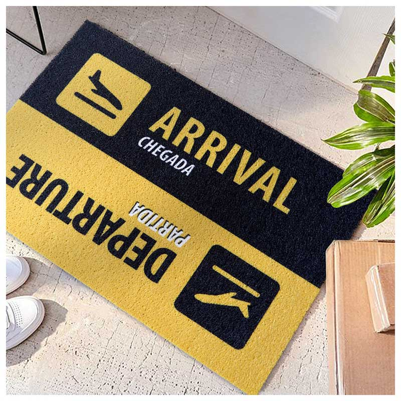 Capacho do Viajante - Chegadas & Partidas - Departure & Arrival (60x40cm)