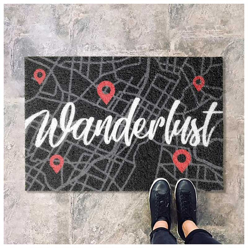 Capacho Estilo Viajante - Wanderlust - Street Map (60x40cm)