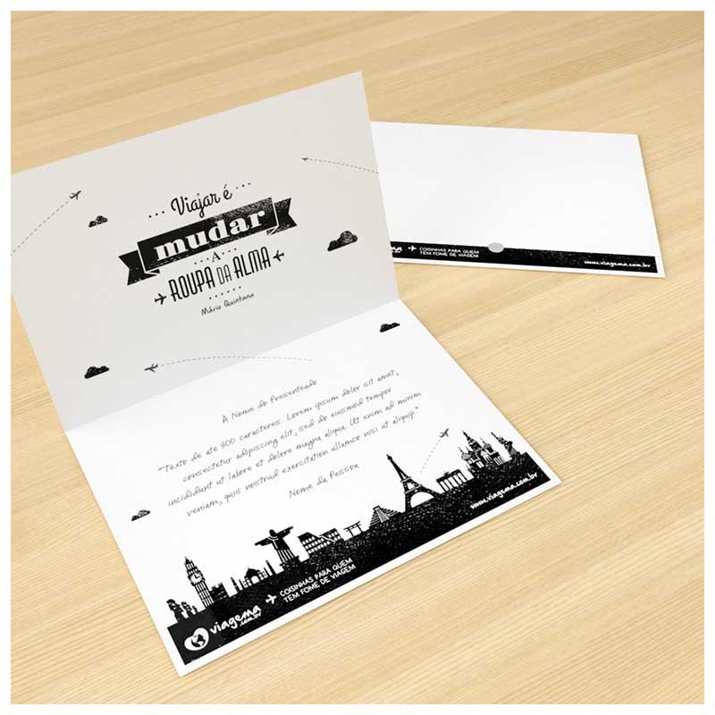 #Cartão para Presente com Texto Personalizável (Impresso A4)