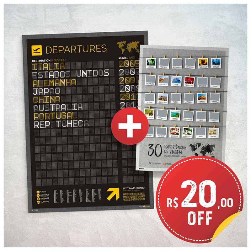 Combo - Pôster Departures + Pôster Raspadinha c/ R$20 de Desconto