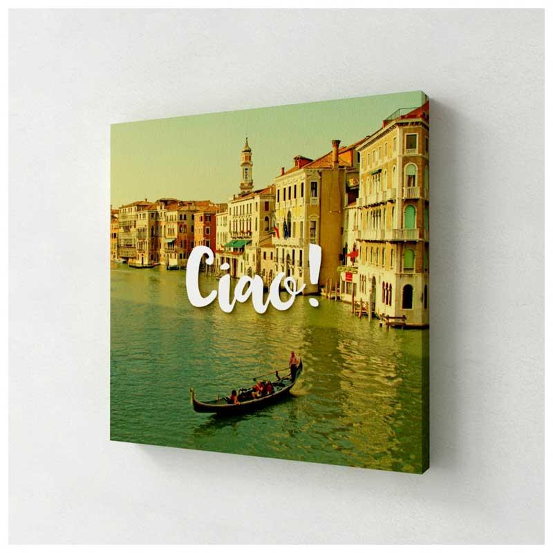 Quadro Decorativo Canvas - Ciao Veneza (Itália) (25x25cm)
