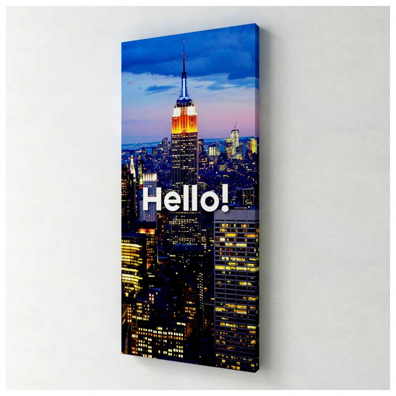 Quadro Decorativo Canvas - Hello New York (Estados Unidos) (25x55cm)
