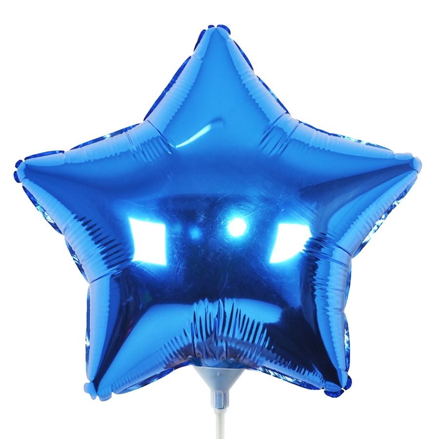 10 Unid - Balão Azul Escuro 18 Pol  Metalizado