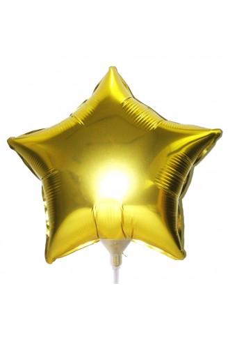 10 Unid - Balão Dourado 18 Pol  Metalizado