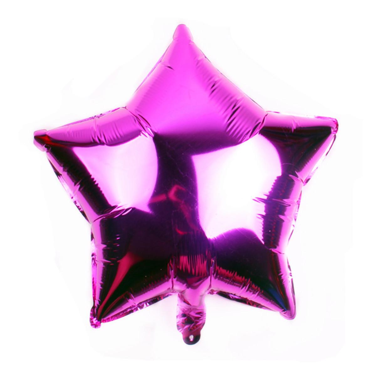 10 Unid - Balão Pink 18 Pol  Metalizado