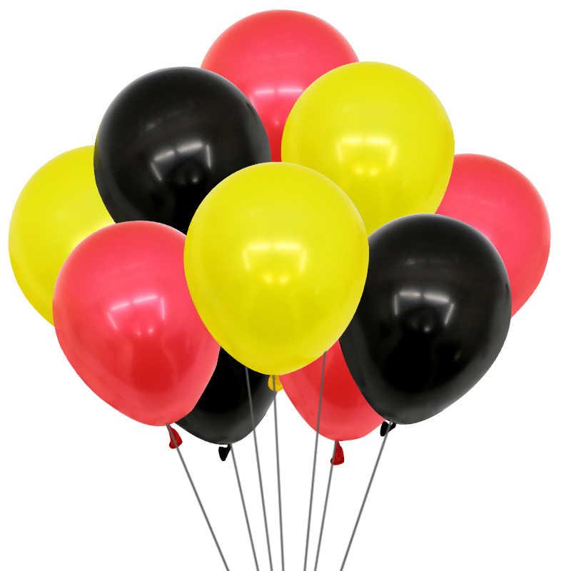 150 Balão Bexiga 8 Pol Harry Potter Preto, Vermelho e Amarelo