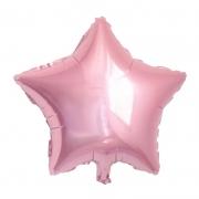 10 Unid - Balão Estrela 18 Pol  Rosa Metalizado