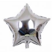 10 Unid - Balão Prata 18 Pol  Metalizado