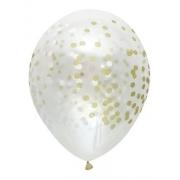 12 Unid - Balao Bexiga Dourado Confete  Efeito  Neon 12 Pol Decoracao
