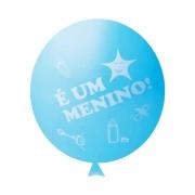 25 Balão Bexiga Cha de Bebe Cha Revelação Azul 11 Polegadas