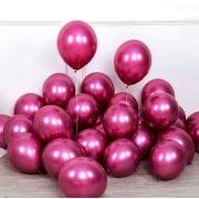 25 Balão Bexiga Cromado Metalizado Alumínio Pink 5 Pol
