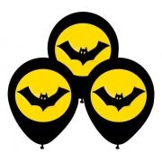 25 Balão Bexiga Latex Batman Morcego P/ Festa Decoração