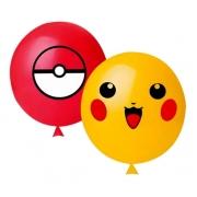 25 Balão Bexiga Látex Decorado 11 Pol Pokemon Pokebola Oferta