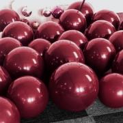 25 Balão Marsala Cromado Metalizado 5 Pol