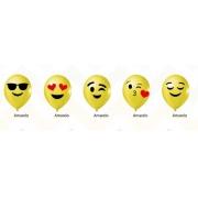 25 Unid - Balão Bexiga Emoji Emoticons whatsapp 9 Polegadas Sortidas