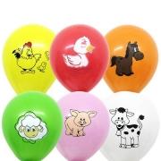 25 Unid - Balão Bexiga Fazendinha  Sortido 11 Polegadas
