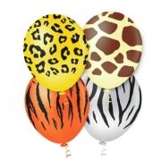 25 Unid - Balão Bexiga Safari  Sortido 10 Polegadas