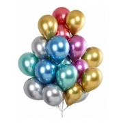 25 Unid Balão Platino Cromado Pic Pic - Bexiga Festa