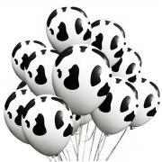 25 Unid - Bexiga Balões Vaquinha 9 Pol