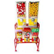 Kit Completo 5 Maquina de Bolinha Pula Pula  + Produtos + Rack