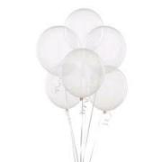 50 Balão 5 Pol Cristal Bexiga Transparente