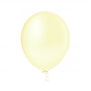 50 Unid - Balão Bexiga Candy Color Marfim 9 Polegadas